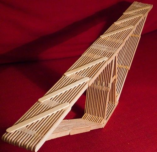 Popsicle stick bridge cool design | Fair | Popsicle stick ...
