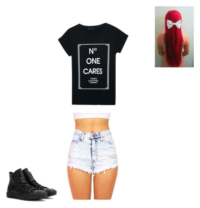 """Untitled #189"" by annabellelpsi ❤ liked on Polyvore featuring WithChic and Converse"