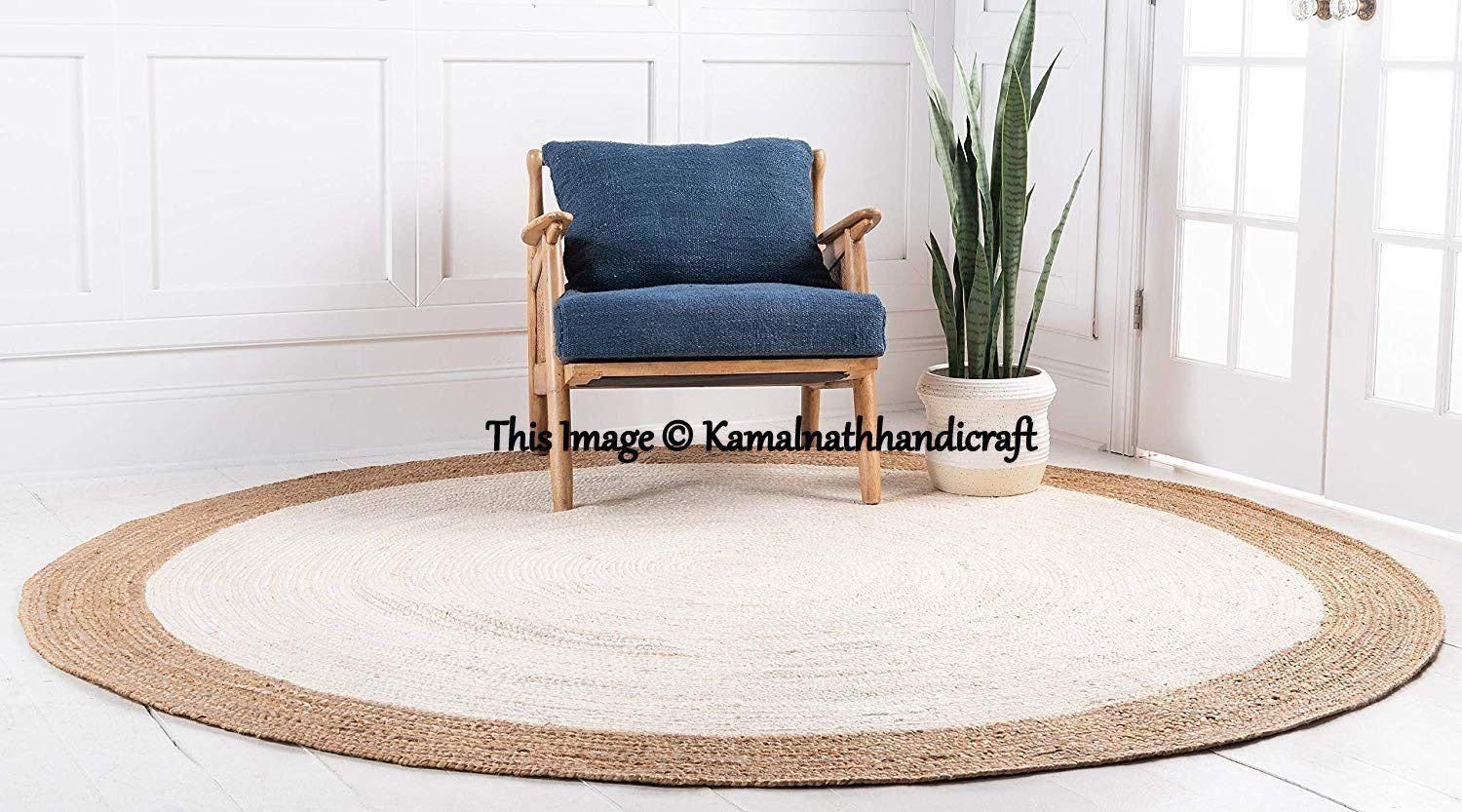 Natural Jute Round Rug Indian Braided Rag Rug Round Floor Rug Handmade Jute Rug Indian Handwoven Ribbed Solid Area Rugs Beautiful Rug 6x6 In 2020 Jute Round Rug Natural Jute Rug