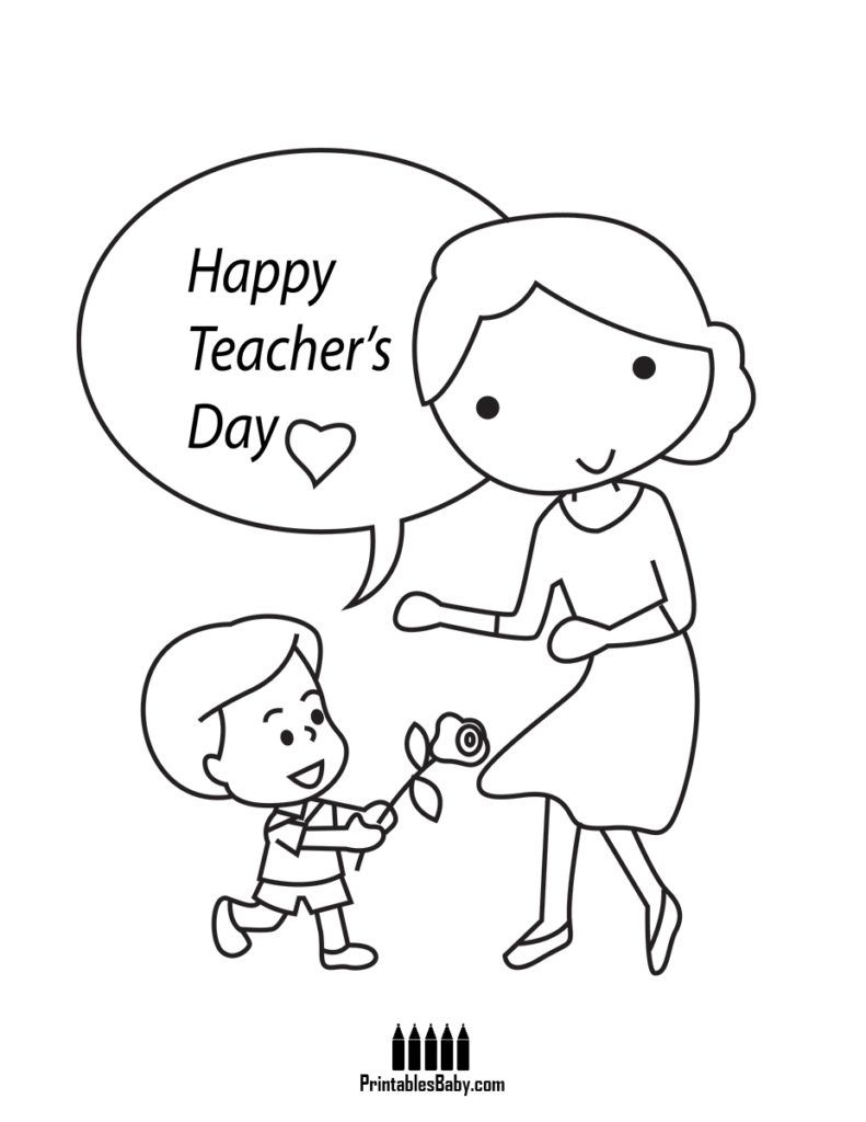 Happy Teachers Day Printables Baby Free Printable Posters And Coloring Pages Teachers Day Card Happy Teachers Day Card Happy Teachers Day
