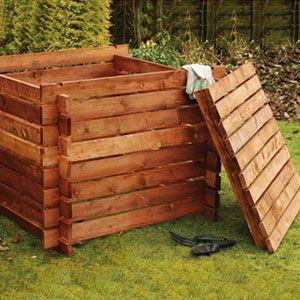 Klip Kit Wooden Composter and Lid Bundle
