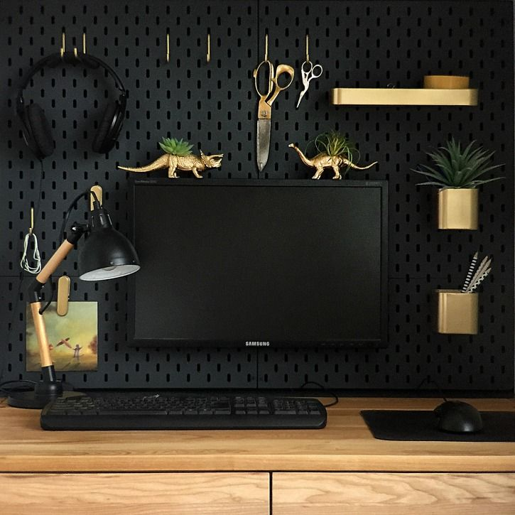 IKEA SKADIS HACK - For A Mini Office Nook | Office spaces, Spaces ...