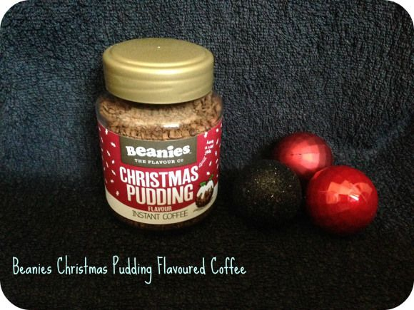 beanies christmas pudding coffee
