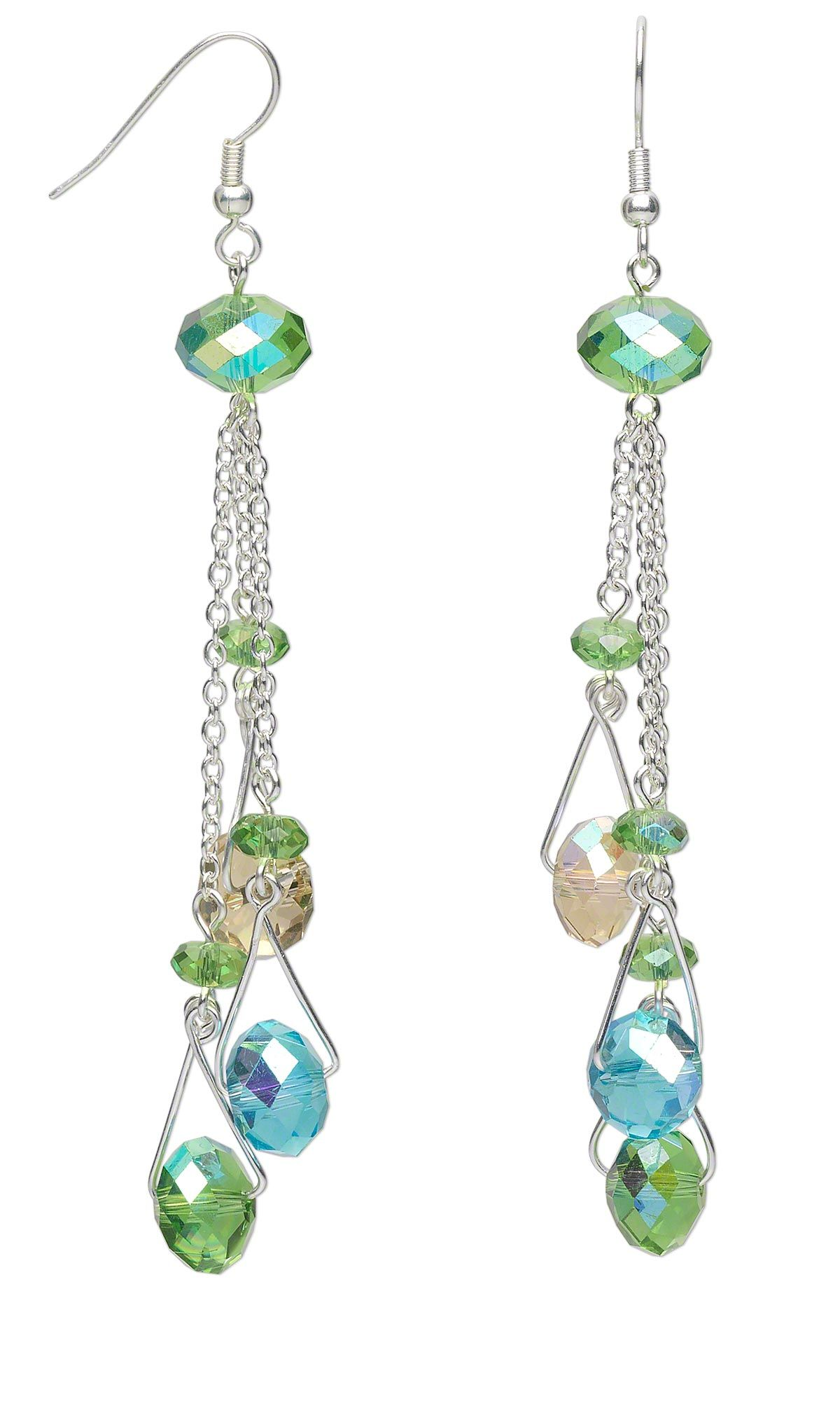 Jewelry Design - Earrings with Celestial Crystal® Beads and Glass ...