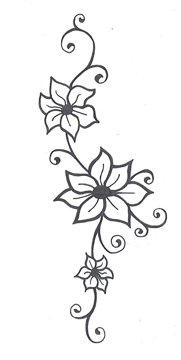 flower vine tattoos flower vine2 by mybeautifulsickness. Black Bedroom Furniture Sets. Home Design Ideas