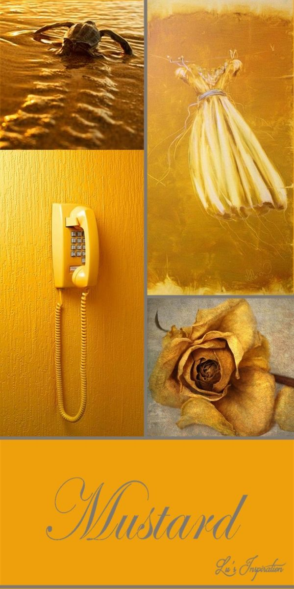 Mustard moodboards collages pinterest - Senfgelb wandfarbe ...