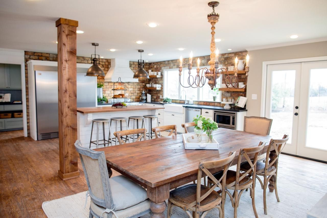Fixer Upper Dining Rooms Living And Kitchens Get The Rh Com Table Centerpieces