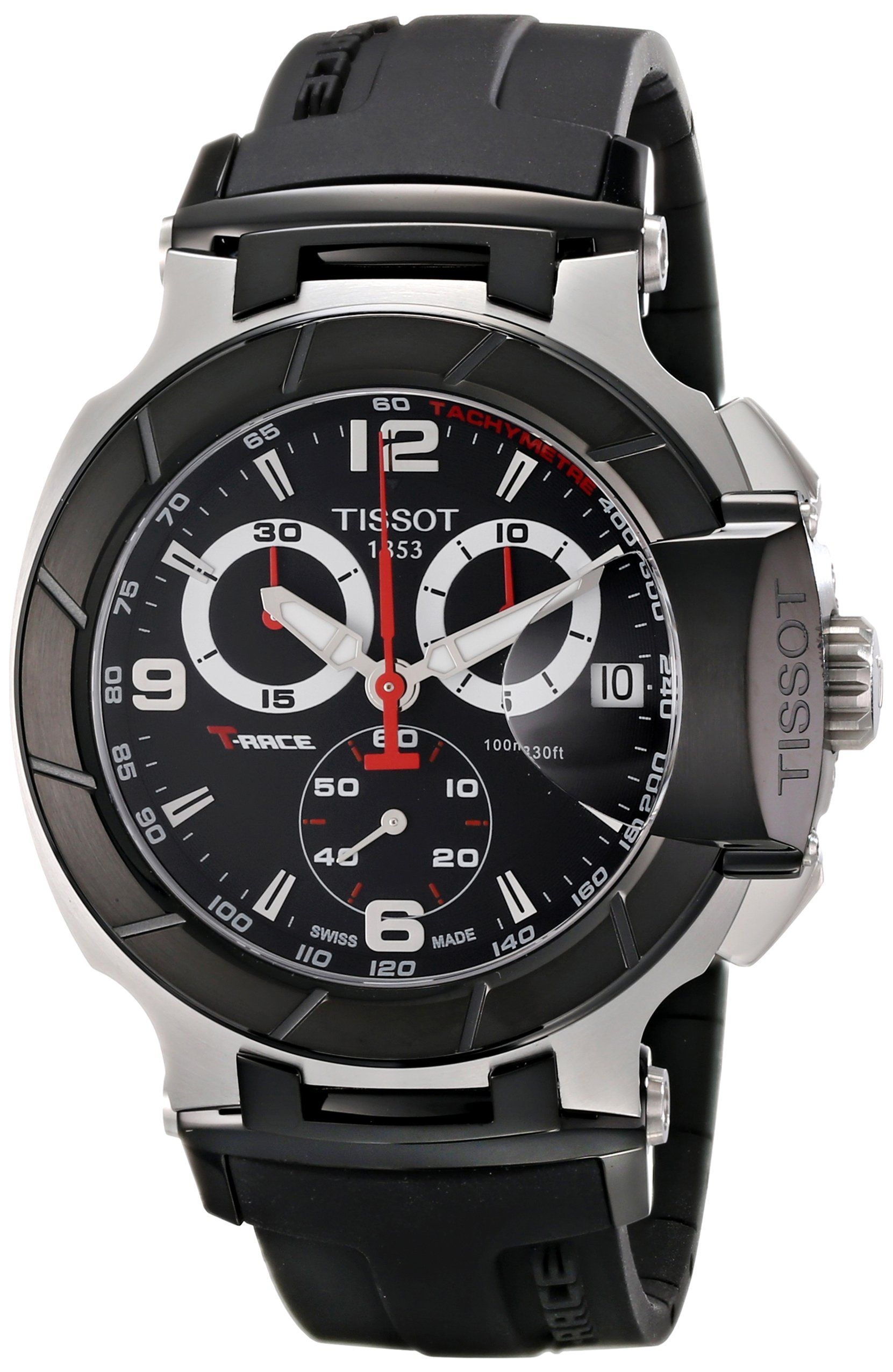 8a984269eed8 Tissot Men s T-Race Black Chronograph Dial Watch Relojes Caballero
