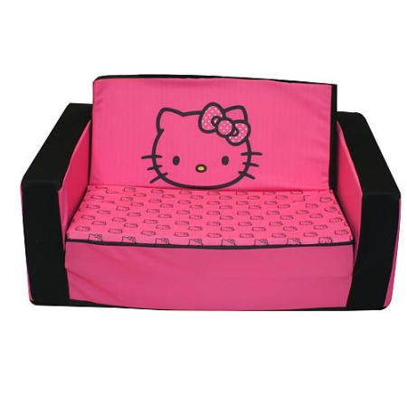 Chesterfield Sofa Now your toddler can fortably relax with this Hello Kitty Flip Open Sofa The Hello Kitty Musical Collection offers the best selection of upholstered