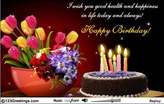 Birthday Cards To Send ~ Beautiful visuals and a warm birthday message send now with this