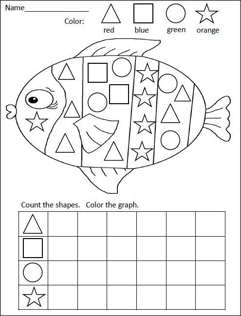 FREE kindergarten math activity for practiciing shapes and graphing ...