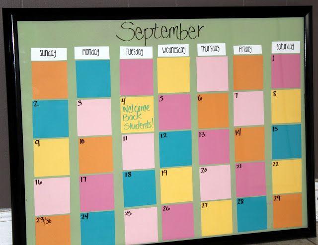 Diy Calendar For Classroom : Diy classroom calendar paint chip
