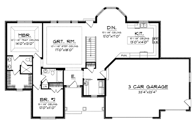 Nice Large Kitchen House Plans Dengan