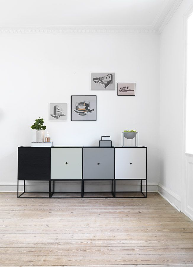 Frame Sideboard And House Graphics Drawn By Danish Designer Kristina