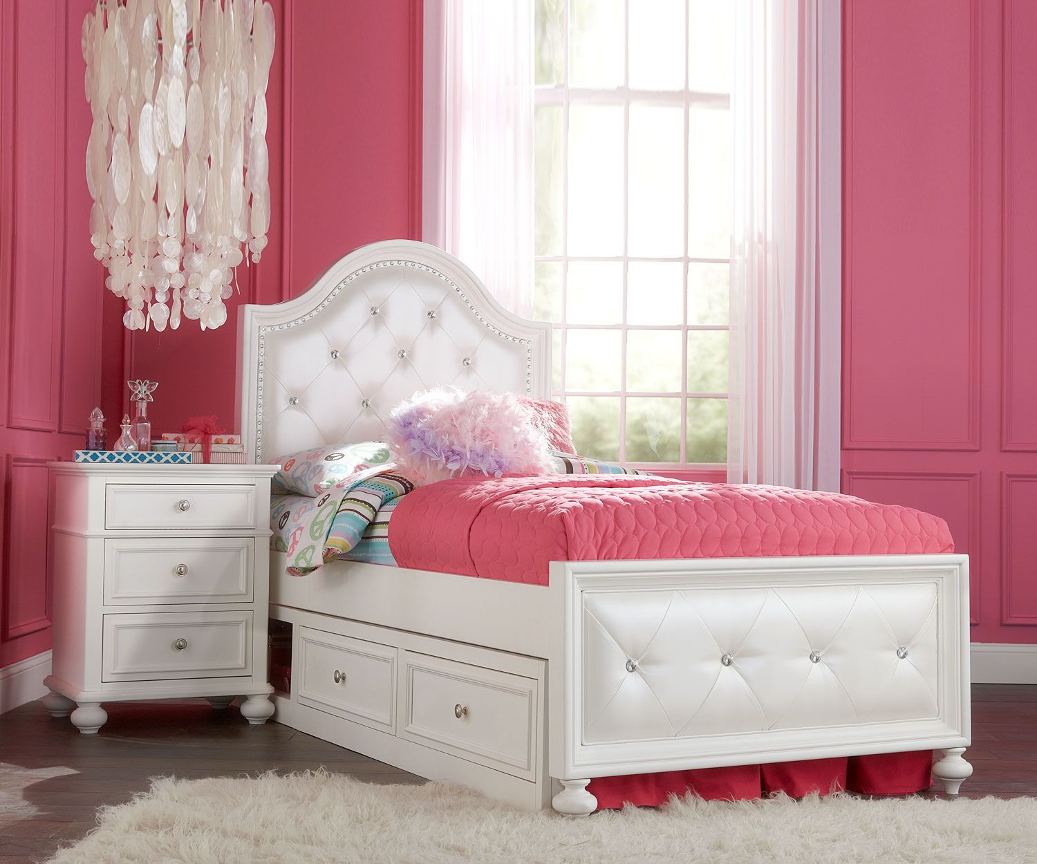 Madison Upholstered Bed Twin Size 2830 4703k Legacy Classic Kids Girls Bedroom Furniture Upholstered Beds Girls Bedroom Furniture Girls Bedroom Sets