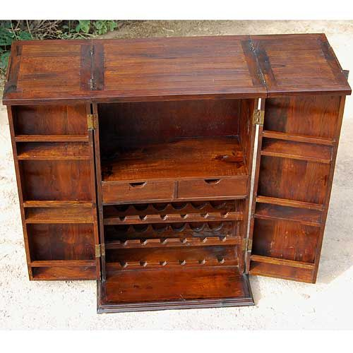 Solid Wood Bar Wine Rack Liquor Storage Cabinet Wine Bar Cabinet Liquor Storage Liquor Storage Cabinet