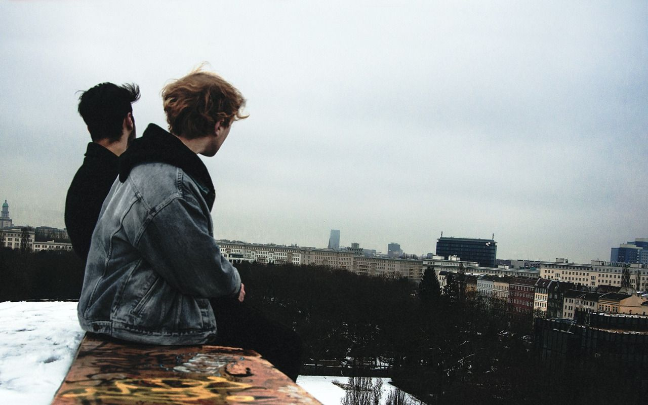 on a freezing cold day, me and my friend climbed on the top of an abandoned…