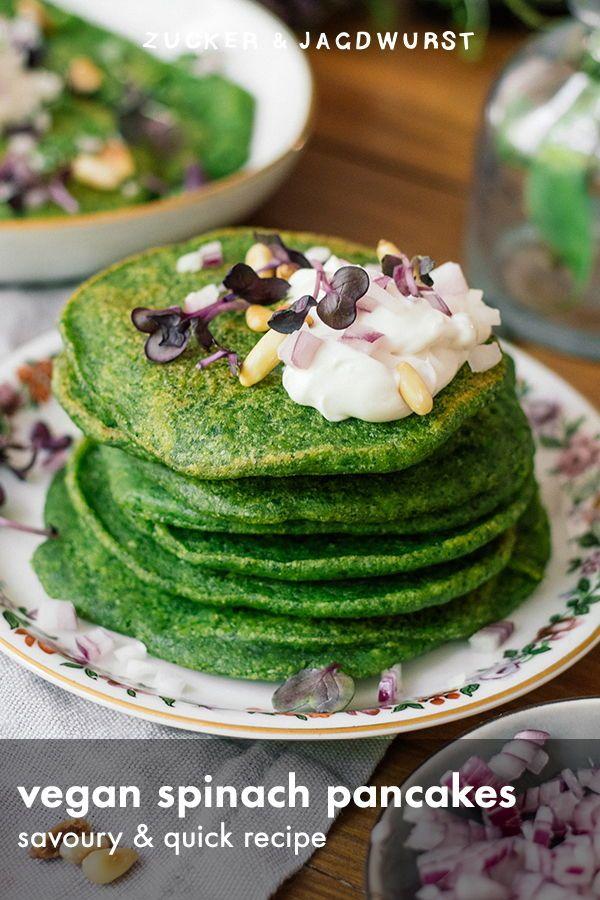 Vegan Savory Spinach Pancakes