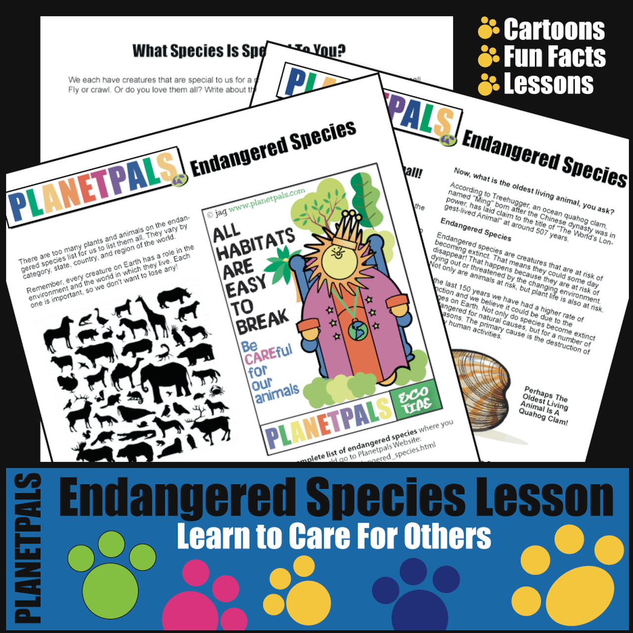 Planetpals Endangered Species Lesson Activities Earth