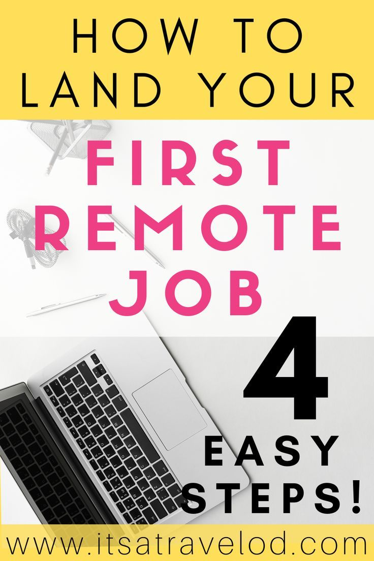 How to Land your First Remote Job — it's a Travel O.D. in