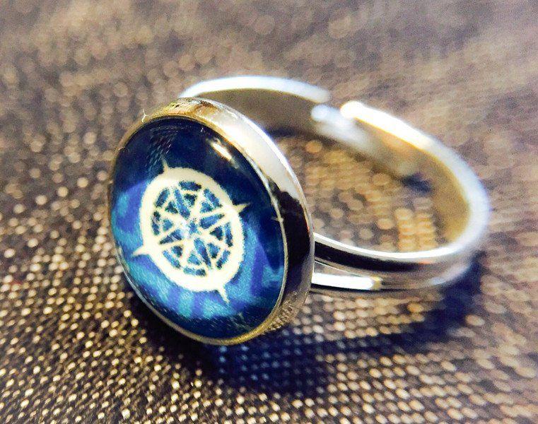 """Ringe - Cabochon-Ring """"Nautik"""" - ein Designerstück von Soulmate-Works bei DaWanda"""