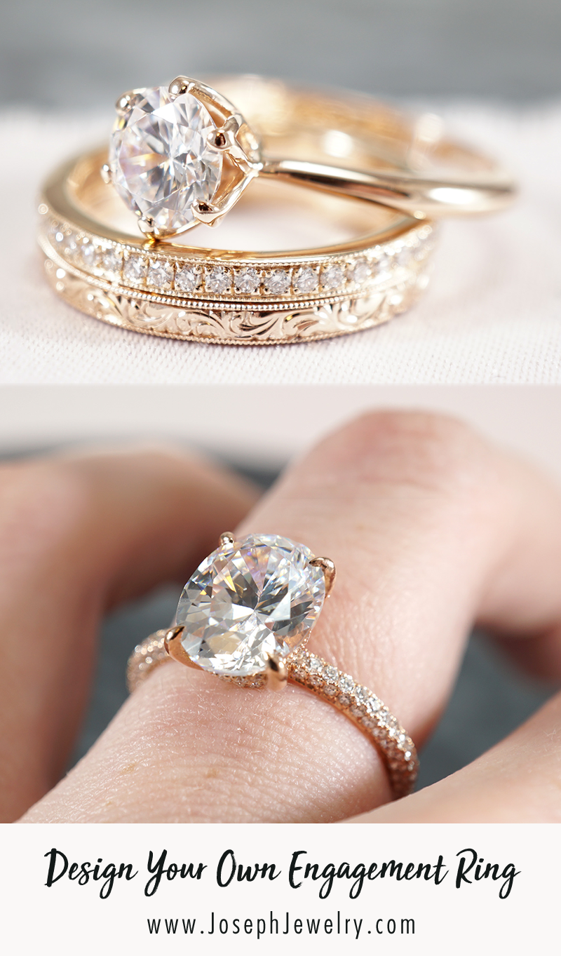 Design Your Own Engagement Ring Work Directly With Our Designers And We Ll Make Popular Engagement Rings Minimalist Engagement Ring Rose Gold Engagement Ring