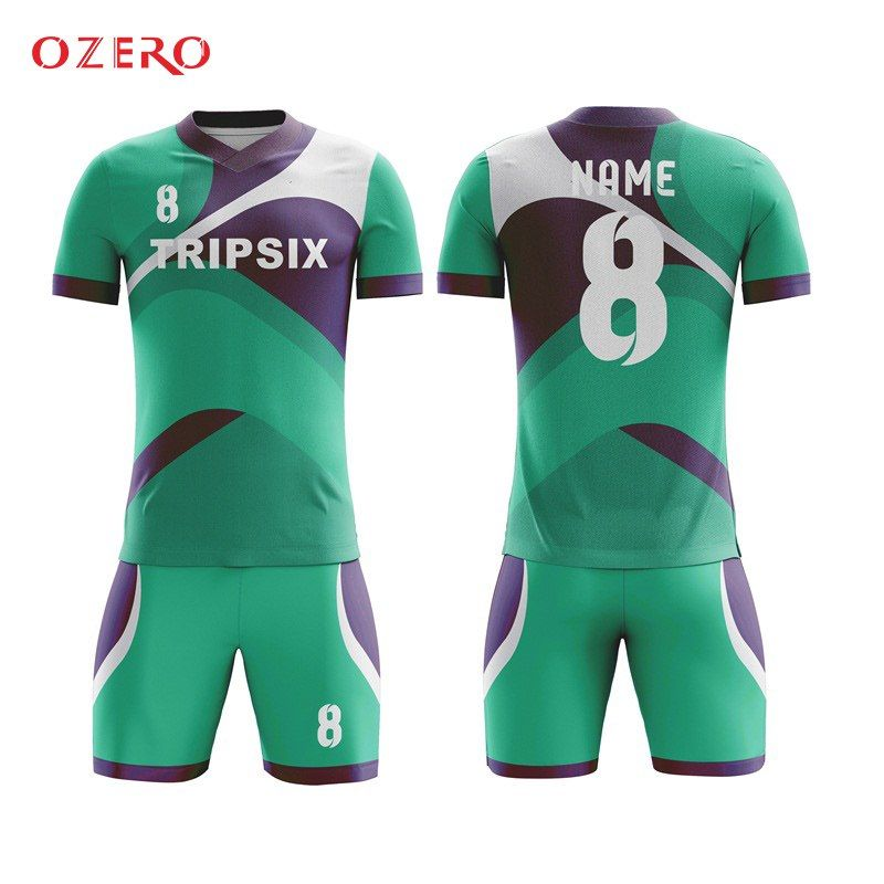 33c5cd192b4 Custom Colorful China Guangzhou Cheap Football Teams T-shirt Wholesale  Sublimated Blank Soccer Jersey
