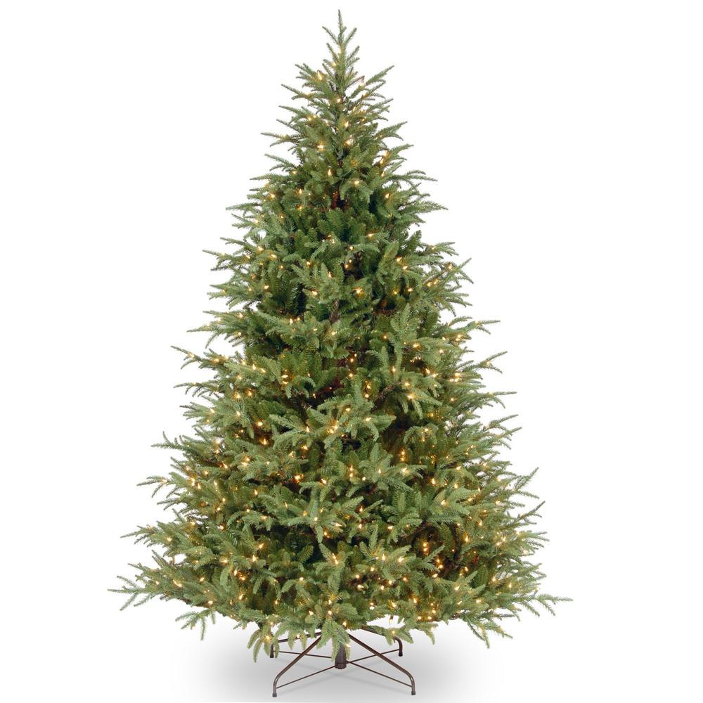 National Tree Company 7 Ft Feel Real Frasier Grande Hinged Tree With 800 Dual Color Led Lights Pefg4 308d 70 The Home Depot Christmas Tree Clear Lights Artificial Christmas Tree Artificial Tree