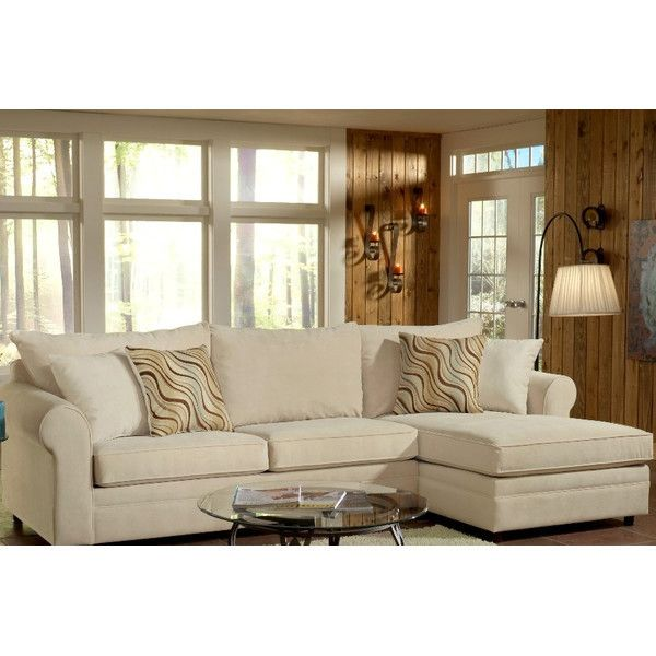 """Sophie 114"""" Sectional Sofa ❤ liked on Polyvore featuring home, furniture, sofas and ship furniture"""