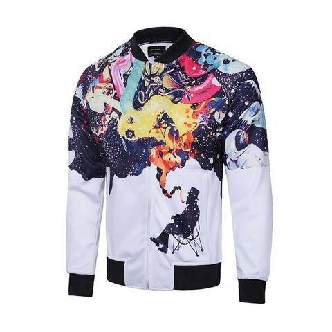 Cloudstyle Men S Brand Jacket Casual Style 3d Printing