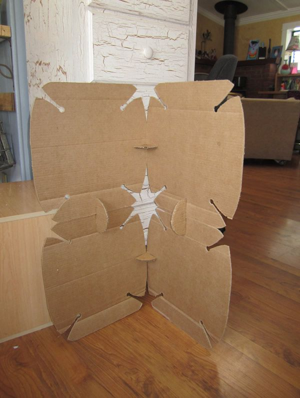 Cardboard Wall Divider Art Google Search Dividing A Room - Diy cardboard room divider privacy screen