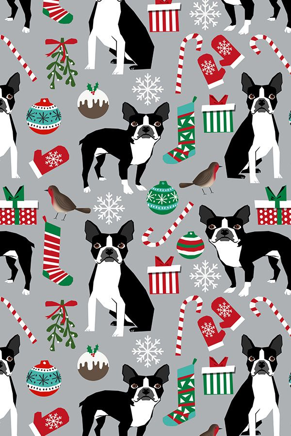Colorful Fabrics Digitally Printed By Spoonflower Boston Terrier