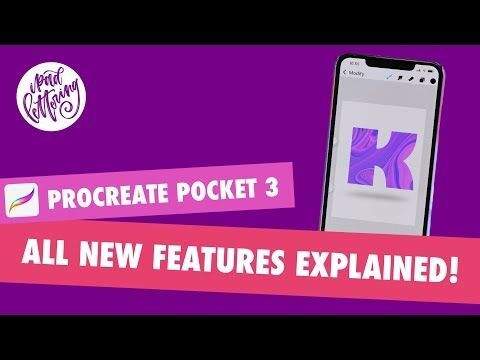 (164) Procreate Pocket 3 Review all new features