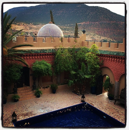 Kasbah Tamadot in the Atlas Mountains,