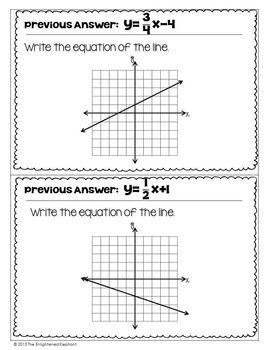 Write Linear Equations In Slope Intercept Form Scavenger Hunt