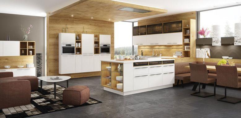Designerküche mit Holzwand und Holzdecke Küche Pinterest - küchenstudio kirchheim teck