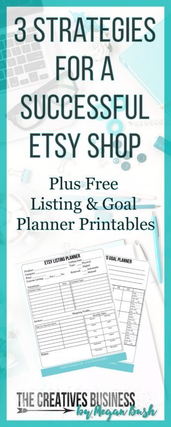 Strategies For A Successful Etsy Store Plus Free Listing Planner