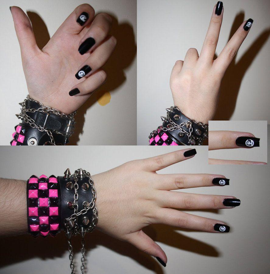 Tokio Hotel Inspired Nails