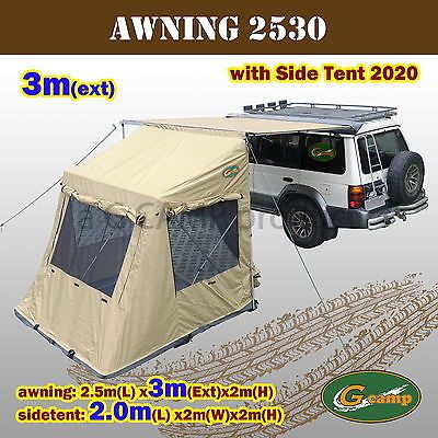 2.5M x 3M AWNING WITH POP UP TENT ROOF TOP TENT CAMPER TRAILER 4WD 4X4 & G CAMP 2.5M x 3M AWNING POP UP ROOF TOP TENT CAMPER TRAILER 4WD ...