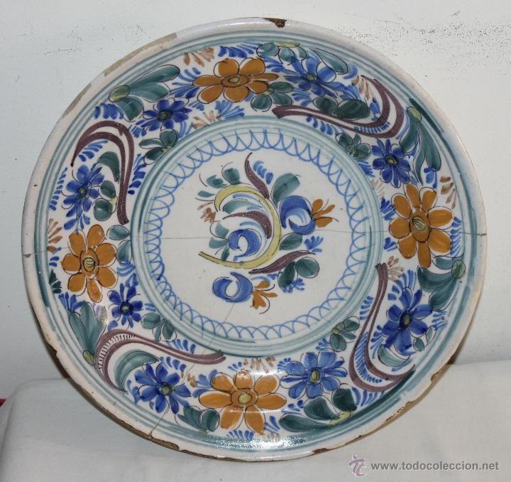 Plato de cer mica de manises del siglo xix decoraci n for Platos de ceramica