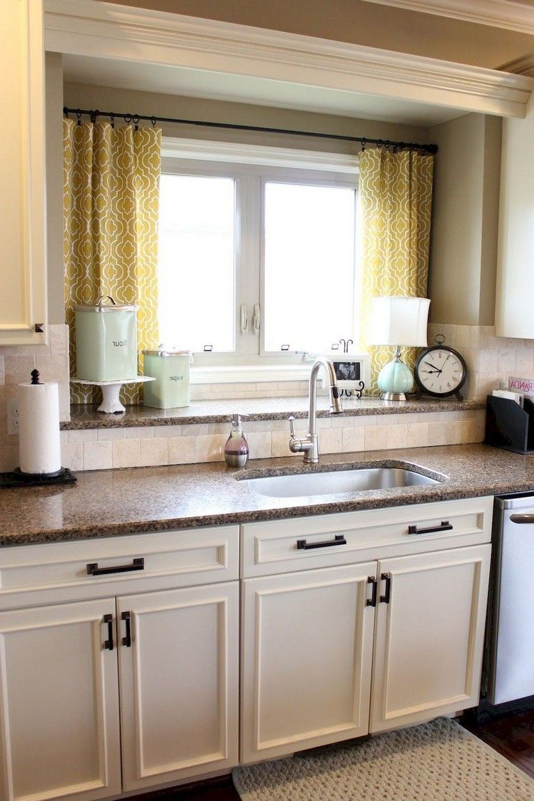 12+ Awesome Kitchen Window Treatments Ideas For Less kitchens ...