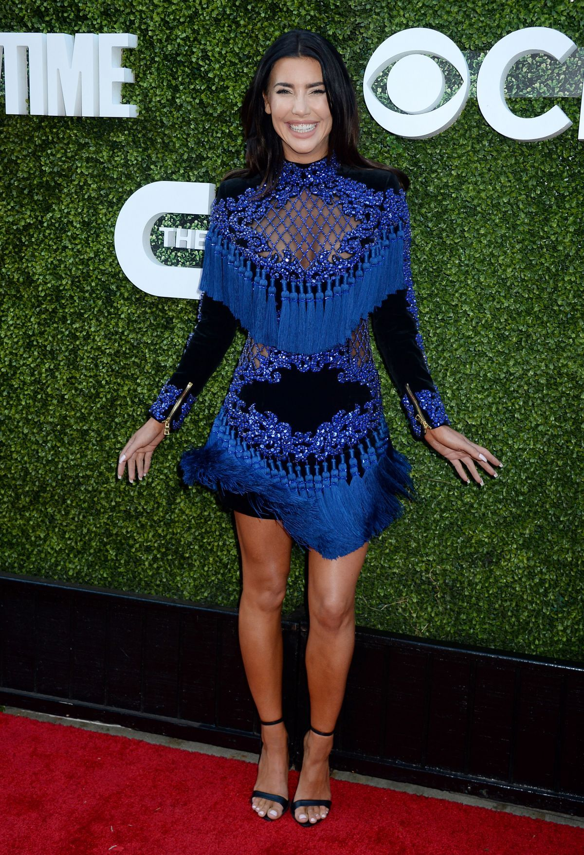 a8fb7bb9 jacqueline macinnes wood style balmain fashion blue tassel dress ...