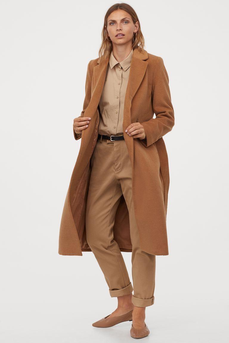 Mantel Mit Bindegurtel Dunkelbeige Ladies H M De Belted Coat Winter Coat Outfits Coat