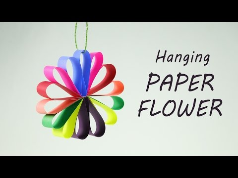 DIY Hanging Paper Flowers Garland for Easy Party Decorations on Budget #easypaperflowers