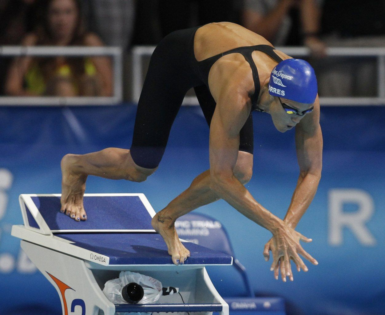 image detail for dara torres leaves the starting block during the womens 50m freestyle race during the us olympic swimming trials in omaha nebraska - Olympic Swimming Starting Blocks
