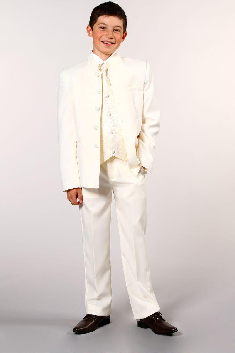 3e085b22b48 Costume 5 pièces col mao ivoire - Tati