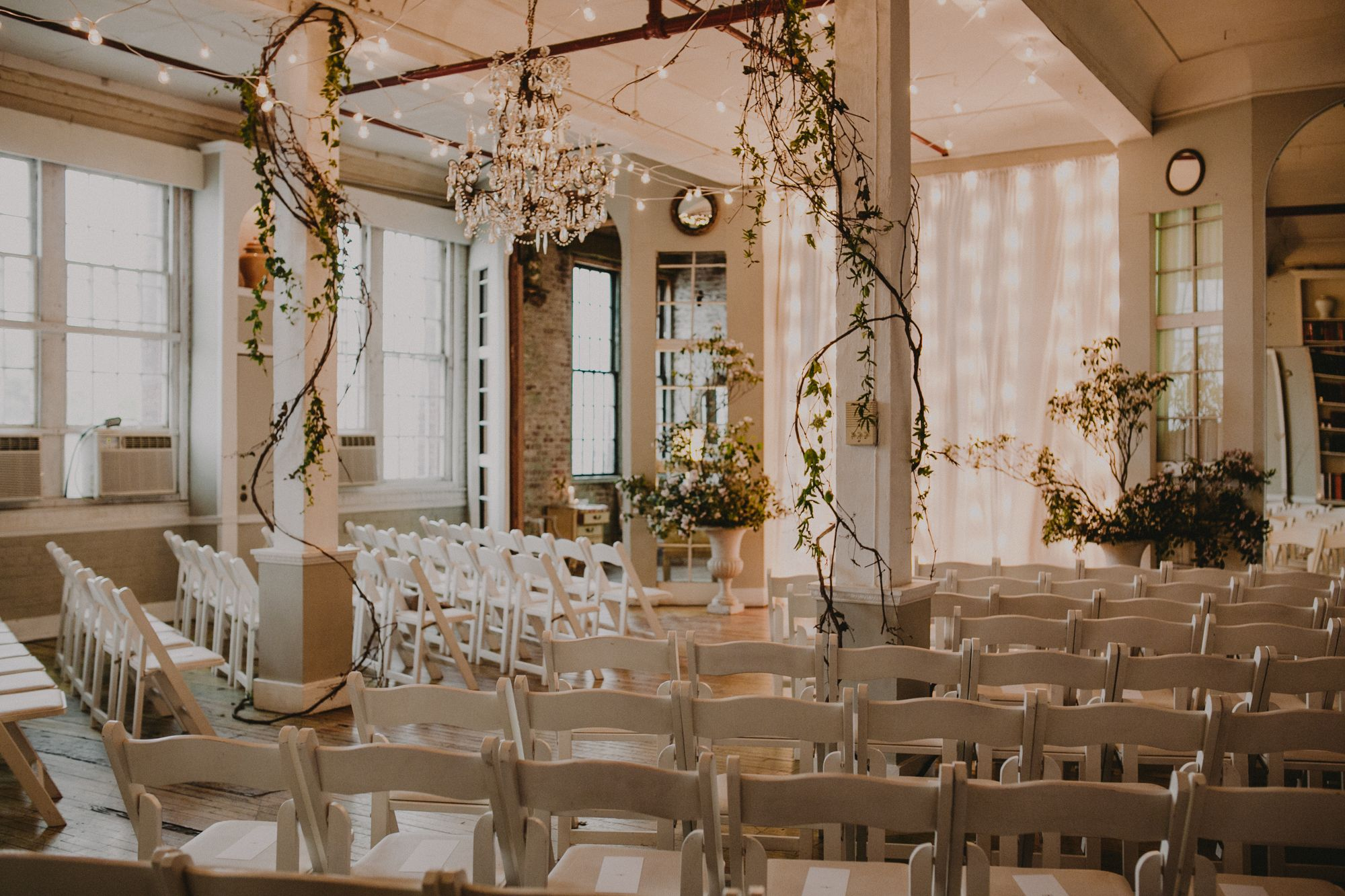 Overgrown indoor ceremony florals brooklyn wedding photographer overgrown indoor ceremony florals brooklyn wedding photographer metropolitan building queens ny junglespirit Images