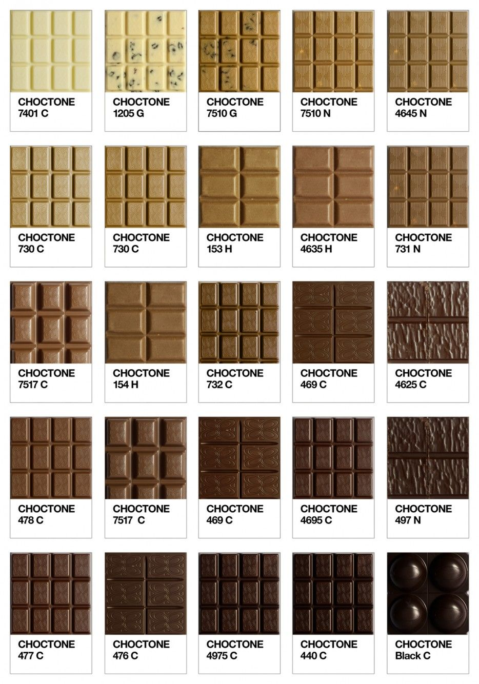Choctone Chocolate Tone Of Pantone Colour Chart  Chocolate