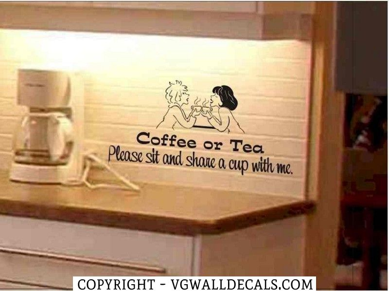 Kitchen Decals | ... Shop > Products > Kitchen Wall Decal Coffee or ...