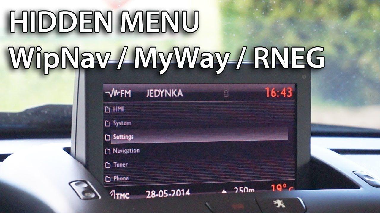 how to get wipnav myway rneg navigation hidden menu in citro n peugeot lancia fiat ds3 c5. Black Bedroom Furniture Sets. Home Design Ideas